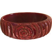 Carved Bakelite Bangle