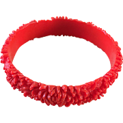 Flowered celluloid Bangle