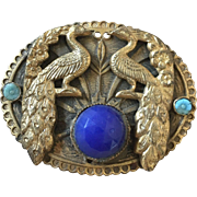 Art Nouveau Peacock Pin