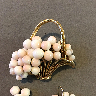 Basket Pin and Earring Set