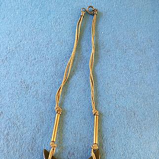 Bakelite Half Moon  Necklace