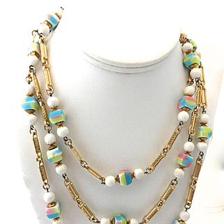 Hobe '60s Art Glass Necklace
