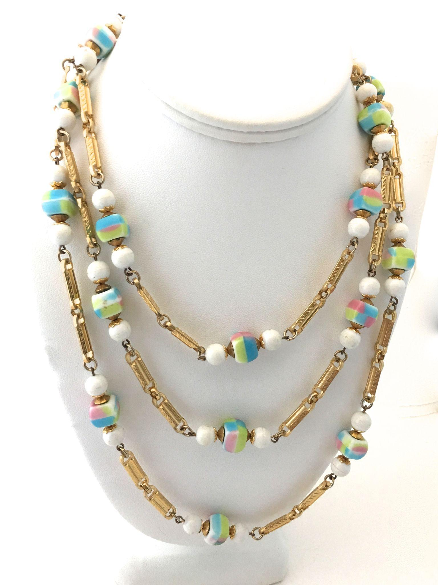Hobe '60s Art Glass Necklace