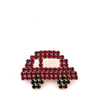 Little Red Automobile Pin