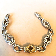 Vintage Bayanihan Sterling with 18K  Bracelet