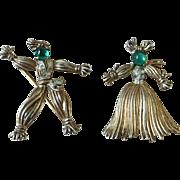 Trifari Nenette and Rintintin Rag Doll Pins