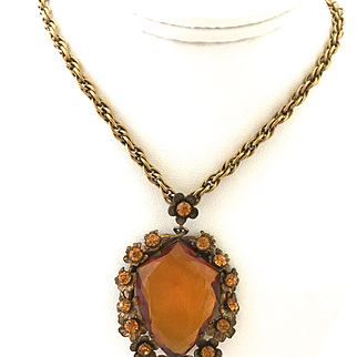 Victorian Revival Shield Shaped Necklace