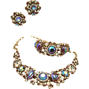 HAR Parure of Necklace, Clamper Bracelet, and Earrings