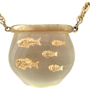 Lucite Fish Bowl Necklace (Castlecliff)