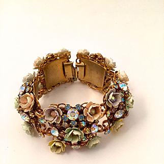 Enamel Flowers Bracelet