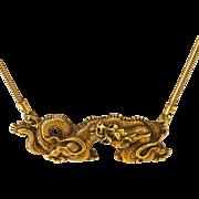 ALVA Dragon Bib Necklace