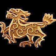 Crown Trifari Dragon Pin