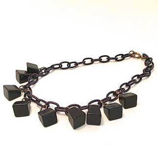 Celluloid Bell Necklace