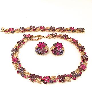 70's/80's Trifari Blossoms Parure