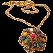 Fabulous Florenza Psycadellic Necklace