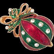 Eisenberg Ice Christmas Ball Ornament Pin