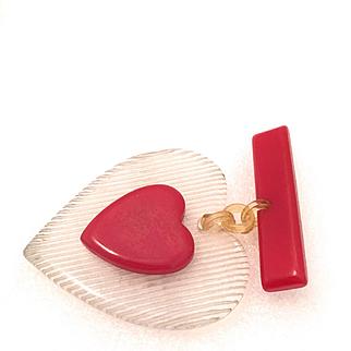 Bakelite Heart- Valentine Pin