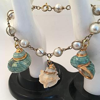 Natural Shell Charm Bracelet