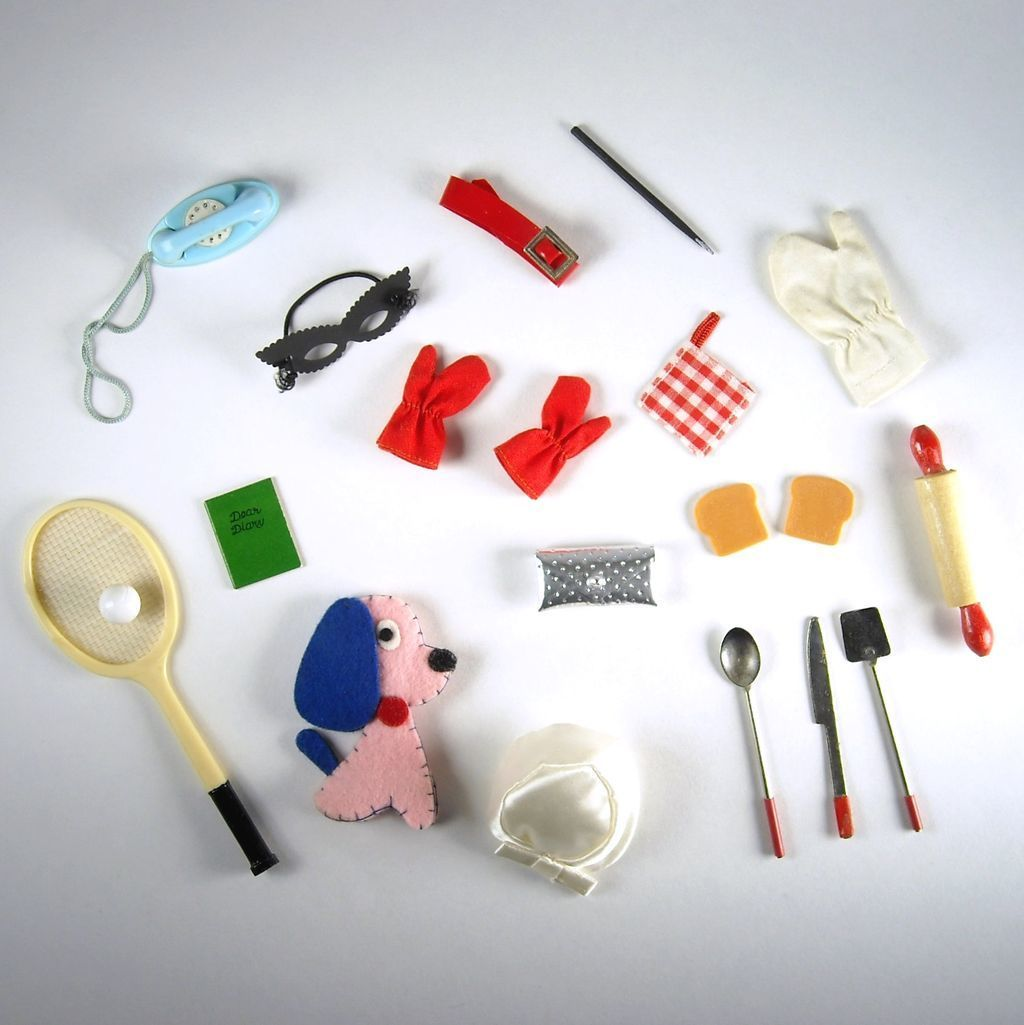 Collection of Vintage Barbie Accessories
