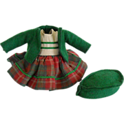 Nancy Ann Muffie Hard to Find Scotch Plaid Outfit #803 from 1954