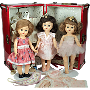 Two Tiny Twinkle Ballerina Virga Dolls with Trunk, Clothing, Accessories and Other Walker Doll