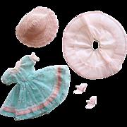 Little Miss Revlon #9033 HTF Flocked Garden Dress