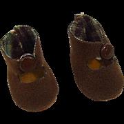 Nancy Ann Muffie HTF Brown Center Snap Shoes