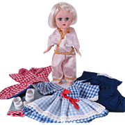 8 inch Kellogg's Cereal Premium Mail In Doll and Wardrobe Set from 1957