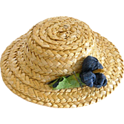 Vintage Straw Hat for Ginny Muffie and Others
