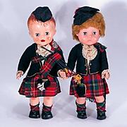 Vintage Pedigree Bonnie Prince Charlie and Bonnie Lassie