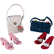 Coordinating Straw Purses and High Heel Shoes for Cissy, Miss Revlon and Others