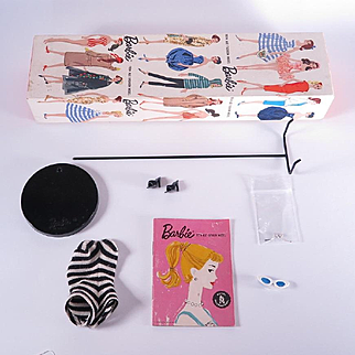 Vintage Box and Accessories for the #3 or #4 Barbie by Mattel