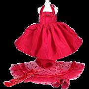 Vogue Jill #7411 Red Taffeta Formal from 1957