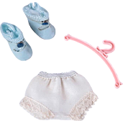 Nancy Ann Muffie Panties, Center Snap Shoes and Hanger