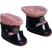 Vintage Fuzzy Sole Center Snap Shoes for Ginny, Muffie, Ginger and Others