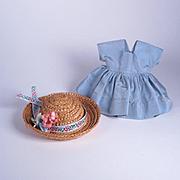 Nancy Ann Muffie #810 Dress from the 1955 Blue Velvet Coat Set