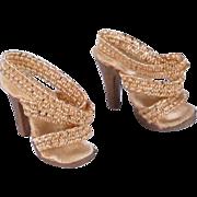 Madame Alexander Cissette Vintage Gold High Heel Shoes