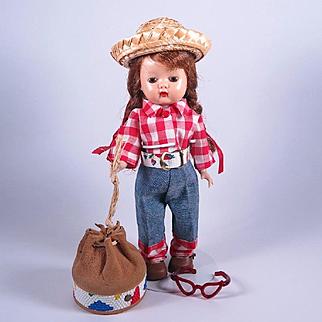 Brown Eye Muffie in Original Outfit #802 by Nancy Ann