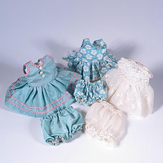Vintage Dresses and Matching Bloomers for Smaller Dolls