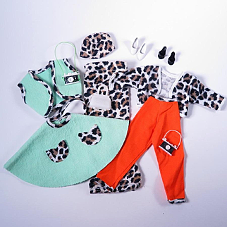 Leopard Print Barbie Clone Outfits and Accessories