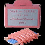 1950's Madame Alexander Comb and Curler Set