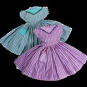 Little Miss Revlon Striped Dresses #9053 Two Versions