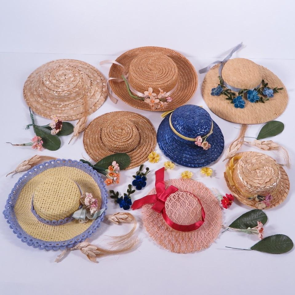 Vintage Hats and Millinery Trims for Medium to Large Dolls