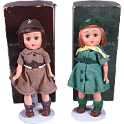 1950's 8 Inch Girl Scout and Brownie Dolls