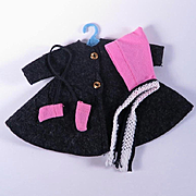 Betsy McCall Felt Coat with Bonnet and Mittens by American Character