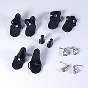 Vintage Shoes and Earrings for 10 1/2 Inch High Heel Fashion Dolls