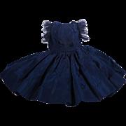 Vintage Cissette Navy Taffeta Dress 3940 From 1957