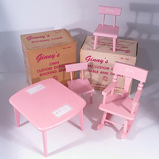 8 inch Ginny Original Rocking Chair, Table and Chairs by Vogue
