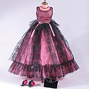 Vintage Raspberry Formal Gown for 18 - 20 inch 1950's High Heel Fashion Dolls