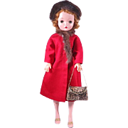 Vintage Dress Coat and Accessories for 18 - 20 Inch Fashion Dolls Cissy, Miss Revlon and Others
